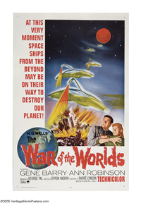 WAR OF THE WORLDS   Re-Release American One Sheet   (Paramount, 1965)