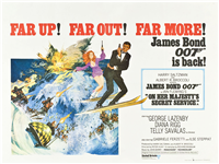 ON HER MAJESTY'S SECRET SERVICE   Original British Quad   (United Artists, 1969)