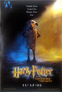 HARRY POTTER AND THE CHAMBER OF SECRETS   Original American One Sheet Advance Style   (Warner Brothers, 2002)