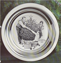 Trimming The Tree by Norman Rockwell Christmas Plate  (Franklin Mint, 1973)
