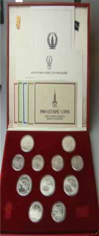 Moscow Olympics Coins of the XXII Olympiad 11 Coin Set (Franklin Mint, 1980)