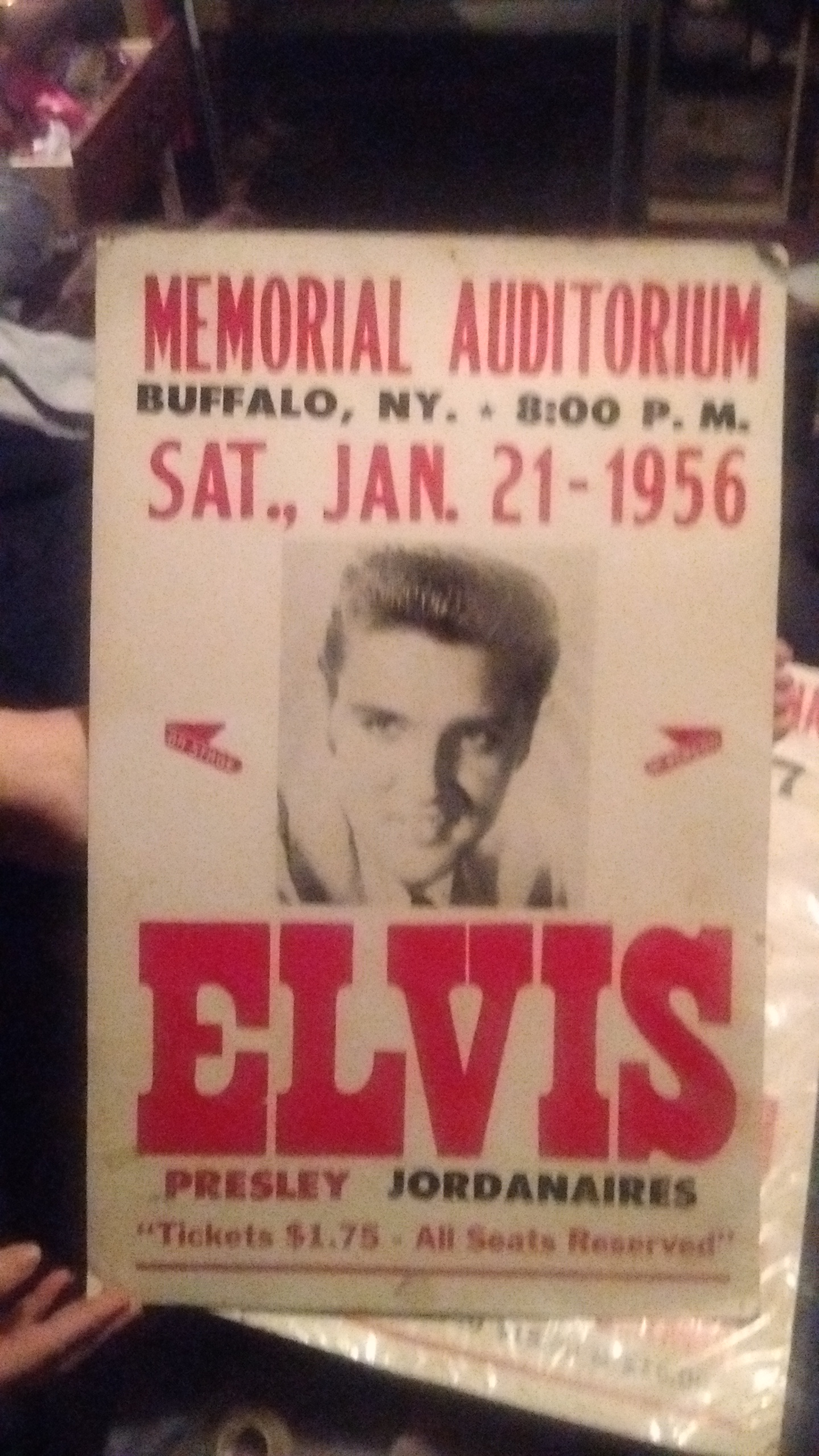 "Value of USA Concert Advertising Poster ""The Elvis Presley ..."