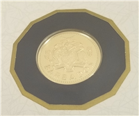 (KM-33) 1981 BARBADOS $150 Gold Proof Coin  (7.13 grams .500 fine)