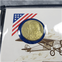 America-France Charles A. Lindbergh Commemorative Medal and First Day Cover Set (Franklin Mint, 1977)