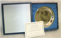 "1973 Franklin Mint Mother's Day Plate, ""Mother and Child"" by Irene Spencer"