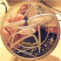 Star Trek:  15th Anniversary of First Movie Commemorative Sterling Silver Medal