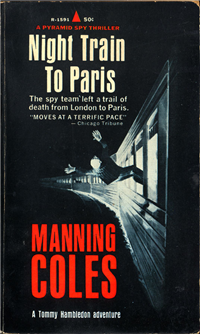 NIGHT TRAIN TO PARIS  Manning Coles  (Pyramid R-1591, 1967)