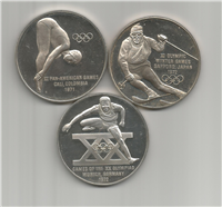 The United States Olympic Team XX Olympiad Commemorative Medals Collection    (Franklin Mint, 1971)