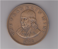 Franklin Mint  1972 Benjamin Franklin Paperweight Medal (Bronze)