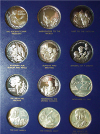 The Legacy of John Fitzgerald Kennedy Commemorative Medals Set  (Lincoln Mint, 1971)