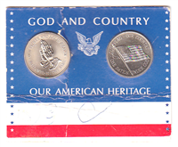Franklin Mint  God and Country, Our American Heritage 2-Medal set