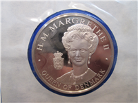 Official Bicentennial Visit Medal Honoring H. M. Queen Margrethe II, Queen of Denmark (Franklin Mint, 1976)