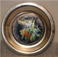 Franklin Mint  The Four Seasons Champleve Plate, Spring Blossoms by Rene Restoueix