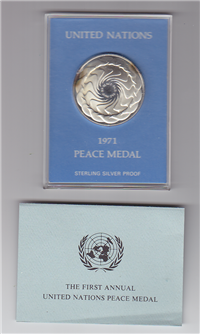 Franklin Mint  1971 United Nations Peace Medal