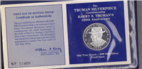 Harry S. Truman 100th Anniversary Silverpiece  (Franklin Mint, 1984)