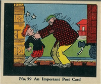 (R41) 1937 Walter H. Johnson DICK TRACY Caramels Card #59   An Important Post Card