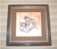 The Cavalryman by Gordon Phillips Silver Wall Sculpture  (Franklin Mint, 1976)