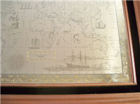 The Royal Geographical Society Silver Map of the World    (Franklin Mint, 1976)