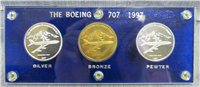 The Boeing 707 Commemorative Medals Set  (Boeing Club, 1997)