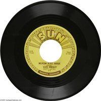 ELVIS PRESLEY     Milkcow Blues Boogie     (Sun  215,  1955)   45 RPM Record