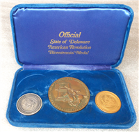 Official State of Delaware American Revolution Bicentennial Medal Collection