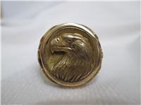 The Golden Eagle Ring by Gilroy Roberts (Franklin Mint, 1977, 14KT) Size 11 1/2