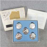 United Nations Economic Commission For Europe Commemorative Medal 5 Coin Set (Franklin Mint, 1972)