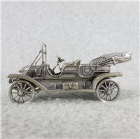 1911 STANLEY STEAMER World-Famous Sterling Silver Vintage Car Replica (Franklin Mint, Silver Car Miniatures Collection, 1977)