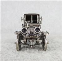 1907 THOMAS FLYER World-Famous Sterling Silver Vintage Car Replica (Franklin Mint, Silver Car Miniatures Collection, 1977)