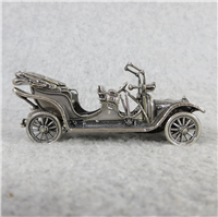1911 RENAULT TAXI World-Famous Sterling Silver Vintage Car Replica (Franklin Mint, Silver Car Miniatures Collection, 1977)