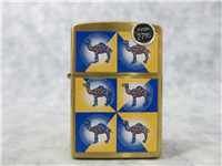 CAMEL 'CORNERS' Solid Brass Lighter (Zippo, CZ228, 1999)