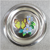 Butterflies of the World ASIA Limoges Enamel on Sterling Silver 8 inch Plate (Franklin Mint, 1978)