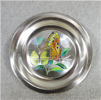 Butterflies of the World AFRICA Limoges Enamel on Sterling Silver 8 inch Plate (Franklin Mint, 1978)