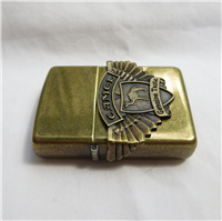 Camel BIKER WINGS EMBLEM Antique Brass Lighter (Zippo, 1996)