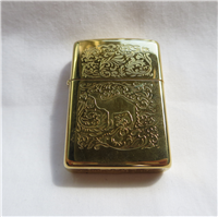 Camel WESTERN ETCH 22k Gold Plated Double Sided Lighter (Zippo,1995)