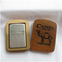 Camel SIDE SCROLL Antique Silver Plate Lighter (Zippo,1998)