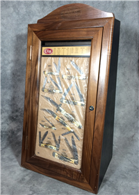 2002 CASE XX Oak Tabletop Dealer Display Complete with 9 Stag Knives