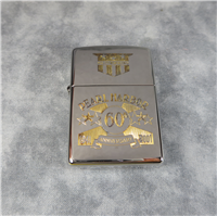 Limited Edition PEARL HARBOR 65TH ANNIVERSARY Silver Plate w/ 24K Gold Inlay Lighter (Zippo, 2000)