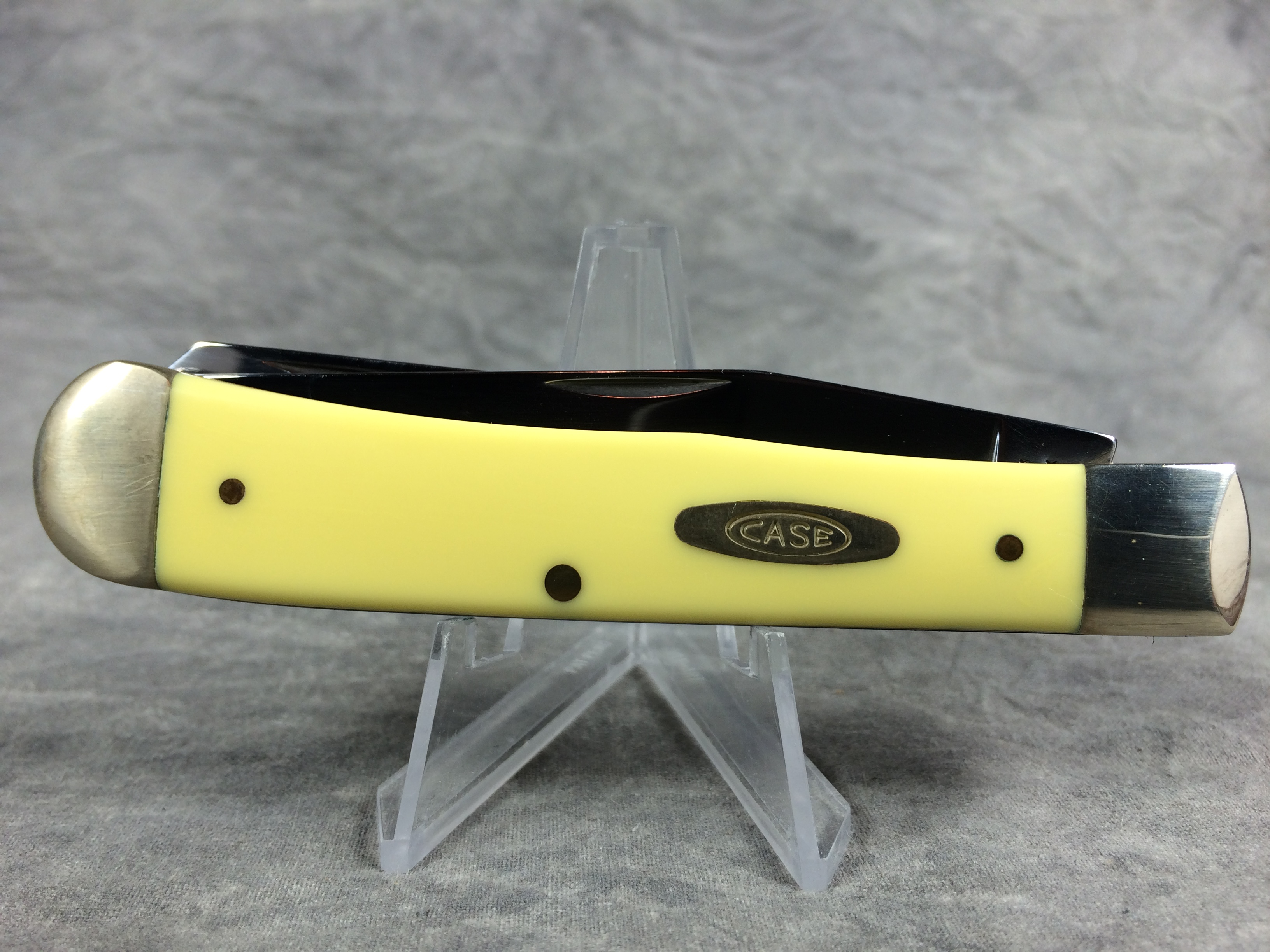 2010 case xx 3254 cv yellow trapper pocket knife nmib