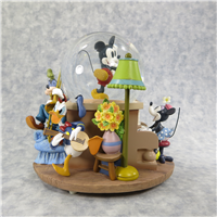 MINNIE'S YOO HOO Mickey's Follies 8 inch Musical Snow Globe (Disney Store, #95982)
