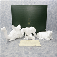 ANIMALS OF THE NATIVITY Nativity Sculpture Collection 5 inch White Bone China Figurines (Lenox, 1988)