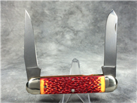 REMINGTON NEW TANG Limited Edition Red / Orange Jumbo Muskrat Bullet Knife