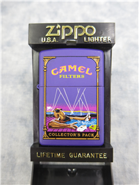 Camel Collector's Pack JOE IN HOT TUB Purple Matte Lighter (Zippo, 1997)