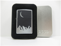 MARLBORO MOON OVER MOUNTAIN Emblem Street Chrome Lighter (Zippo, 2000)