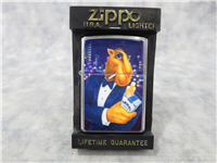 Camel JOE IN TUXEDO Technigraphic Chip Brushed Chrome Lighter (Zippo, 1997)