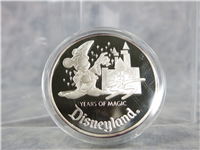 35 Years of Magic DISNEYLAND 1 Oz .999 Fine Silver Proof Medal (Rarities Mint, 1990)