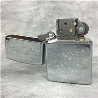 CAMEL FLOYD WITH SAXOPHONE Polished Chrome Lighter (Zippo CZ044, 1996)
