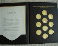 10 Ten Greatest Men of American Business Medals Collection (Franklin Mint, 1971)