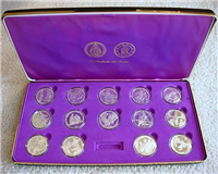 Catholic Art Guild 14 Fourteen Stations of the Cross Medals Collection  (Franklin Mint)