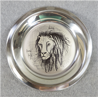 """Lion"" by Bernard Buffet Limited Edition 8"" Sterling Silver Plate  (Franklin Mint, 1976)"